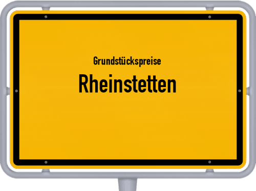 Grundstückspreise Rheinstetten 2021