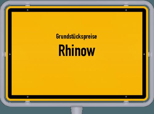 Grundstückspreise Rhinow 2021