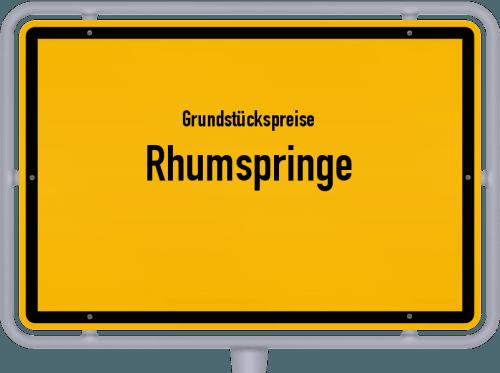 Grundstückspreise Rhumspringe 2019