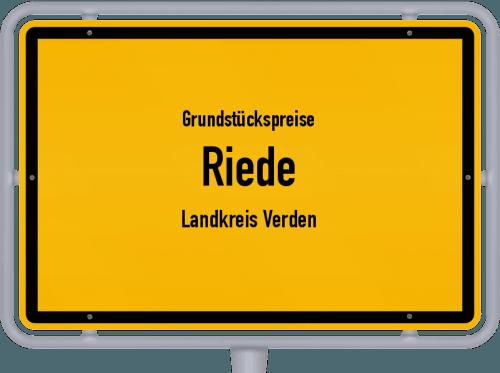 Grundstückspreise Riede (Landkreis Verden) 2021