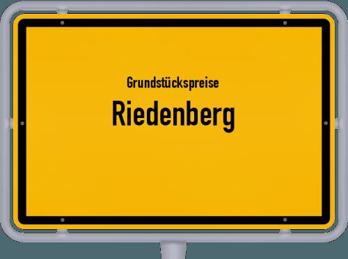 Grundstückspreise Riedenberg 2019