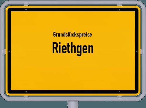 Grundstückspreise Riethgen 2019