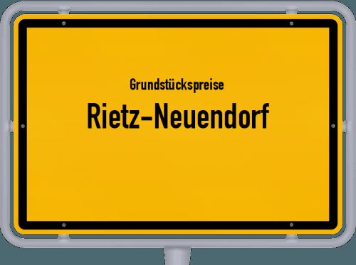 Grundstückspreise Rietz-Neuendorf 2021