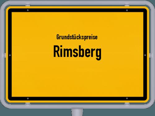 Grundstückspreise Rimsberg 2019