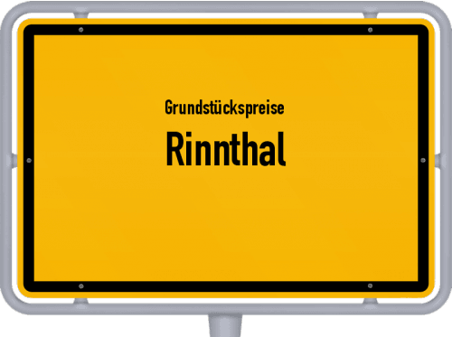 Grundstückspreise Rinnthal 2019