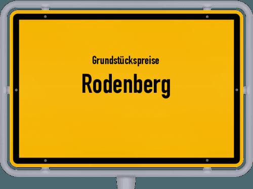Grundstückspreise Rodenberg 2021