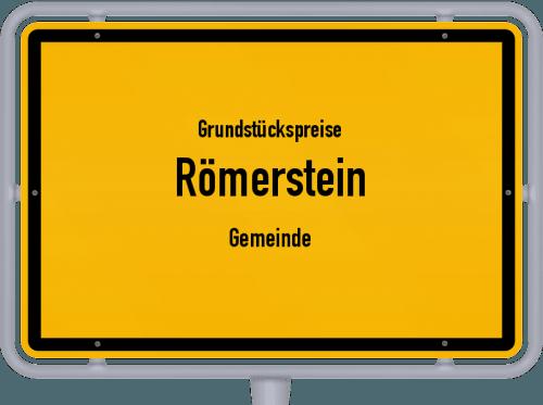 Grundstückspreise Römerstein (Gemeinde) 2018