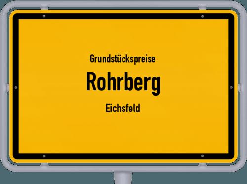 Grundstückspreise Rohrberg (Eichsfeld) 2019