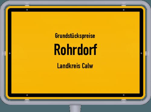 Grundstückspreise Rohrdorf (Landkreis Calw) 2021