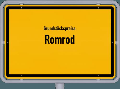 Grundstückspreise Romrod 2019