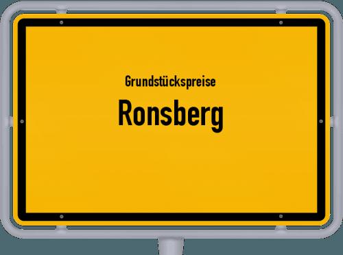 Grundstückspreise Ronsberg 2019