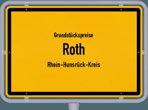 Grundstückspreise Roth (Rhein-Hunsrück-Kreis) 2019