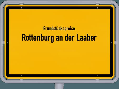 Grundstückspreise Rottenburg an der Laaber 2019