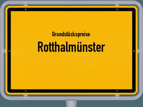 Grundstückspreise Rotthalmünster 2019