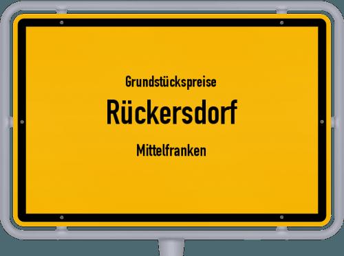 Grundstückspreise Rückersdorf (Mittelfranken) 2021
