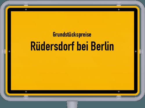 Grundstückspreise Rüdersdorf bei Berlin 2021