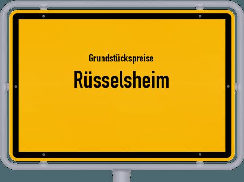 Grundstückspreise Rüsselsheim 2019