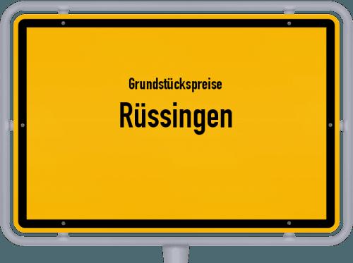 Grundstückspreise Rüssingen 2019