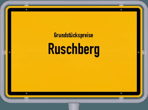 Grundstückspreise Ruschberg 2019