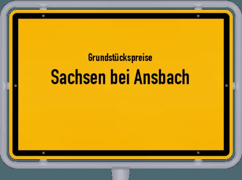 Grundstückspreise Sachsen bei Ansbach 2019