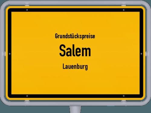 Grundstückspreise Salem (Lauenburg) 2021