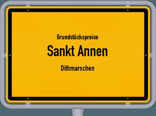 Grundstückspreise Sankt Annen (Dithmarschen) 2021