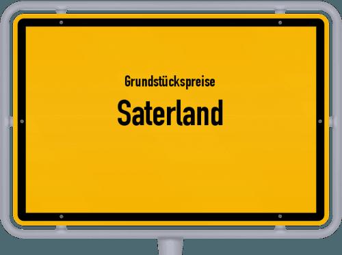 Grundstückspreise Saterland 2021