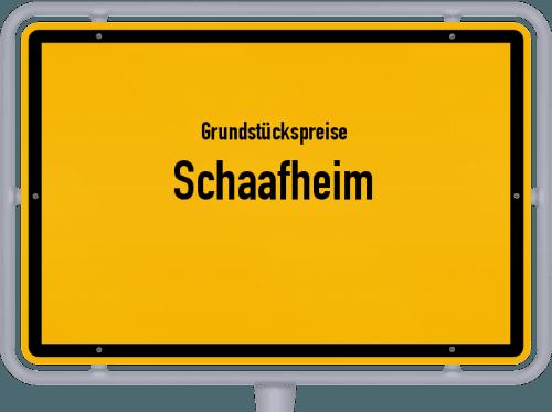 Grundstückspreise Schaafheim 2020