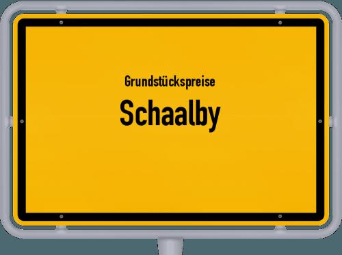 Grundstückspreise Schaalby 2021