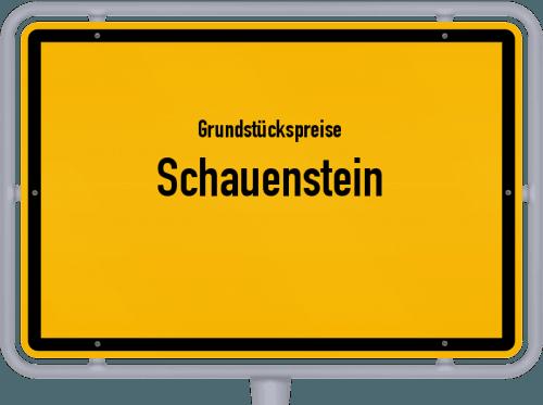 Grundstückspreise Schauenstein 2019