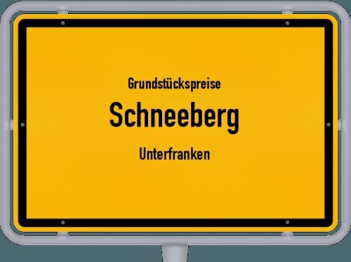 Grundstückspreise Schneeberg (Unterfranken) 2019