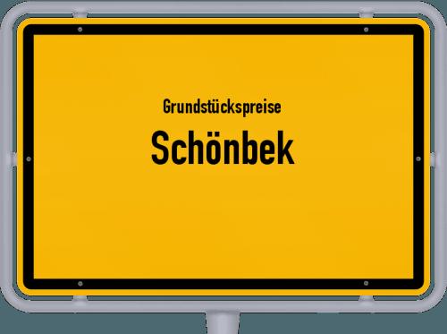 Grundstückspreise Schönbek 2021