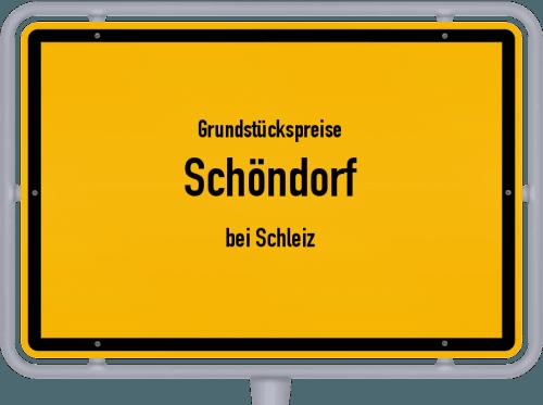 Grundstückspreise Schöndorf (bei Schleiz) 2019