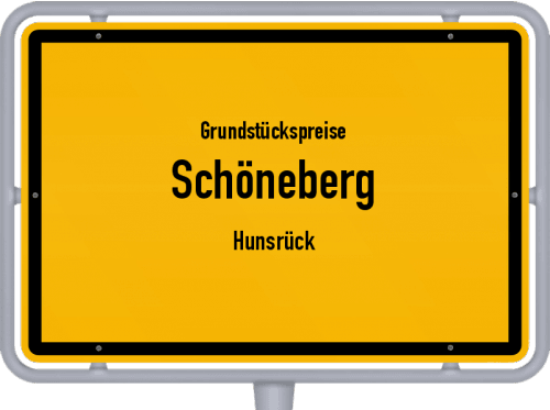 Grundstückspreise Schöneberg (Hunsrück) 2019