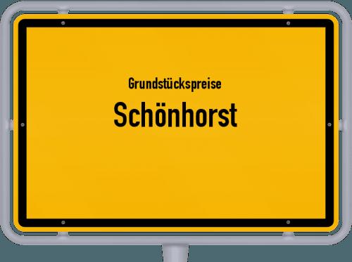 Grundstückspreise Schönhorst 2021