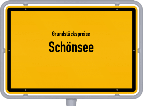 Grundstückspreise Schönsee 2019