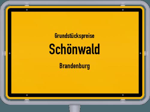 Grundstückspreise Schönwald (Brandenburg) 2021