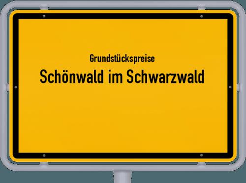 Grundstückspreise Schönwald im Schwarzwald 2021