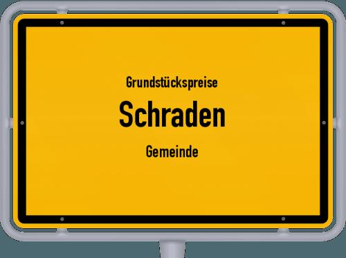 Grundstückspreise Schraden (Gemeinde) 2021