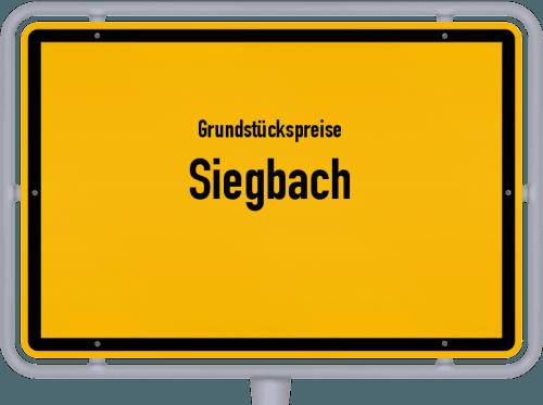 Grundstückspreise Siegbach 2019