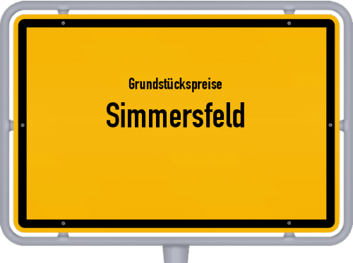 Grundstückspreise Simmersfeld 2021