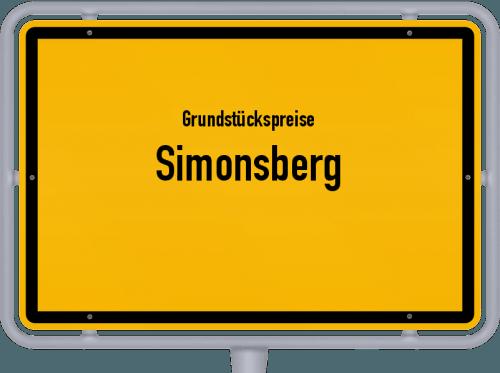 Grundstückspreise Simonsberg 2021