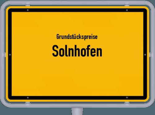 Grundstückspreise Solnhofen 2018