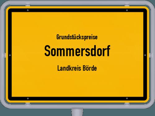 Grundstückspreise Sommersdorf (Landkreis Börde) 2021