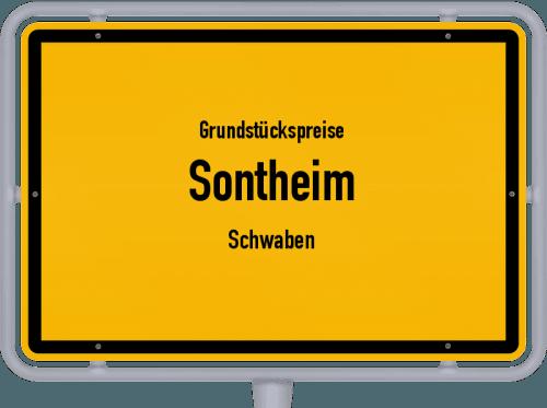 Grundstückspreise Sontheim (Schwaben) 2019