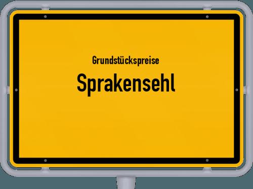 Grundstückspreise Sprakensehl 2019