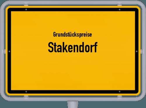 Grundstückspreise Stakendorf 2021