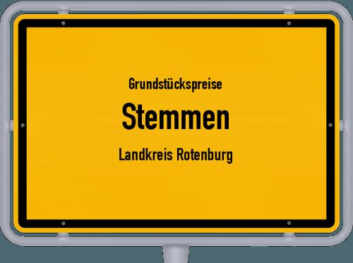 Grundstückspreise Stemmen (Landkreis Rotenburg) 2021