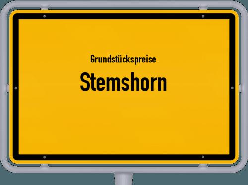 Grundstückspreise Stemshorn 2021