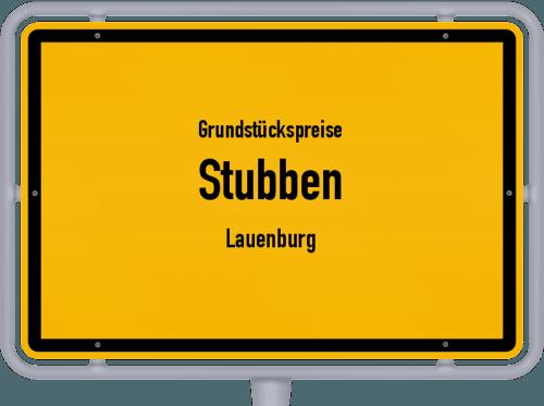 Grundstückspreise Stubben (Lauenburg) 2021
